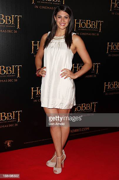 Stephanie Rice attends the Sydney premiere of 'The Hobbit: An Unexpected Journey' at George Street V-Max Cinemas on December 18, 2012 in Sydney,...