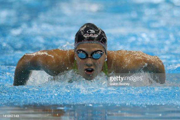 Stephanie Rice of Australia competes in the Heats of the Women's 400 Metre Individual Medley during day one of the Australian Olympic Swimming Trials...