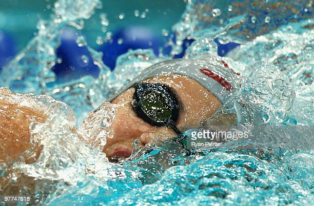 Stephanie Rice of Australia competes in the Woman's 200m Freestyle Final during day one of the 2010 Australian Swimming Championships at Sydney...