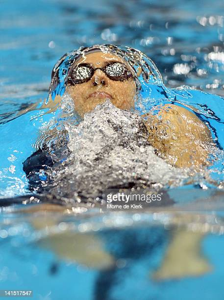 Stephanie Rice of Australia competes in the Womens 200 Metre Individual Medley during day four of the Australian Olympic Swimming Trials at the South...