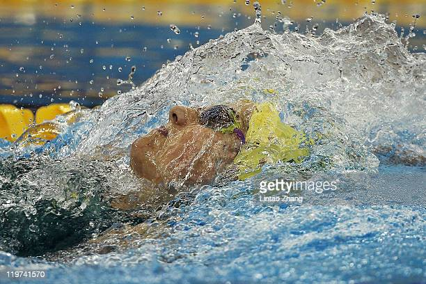 Stephanie Rice of Australia competes in the Women's 200m Individual Medley Semi Final during Day Nine of the 14th FINA World Championships at the...