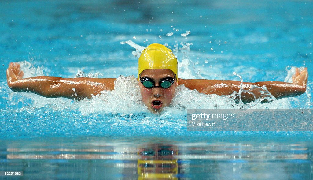 Stephanie Rice of Australia competes in the Women's 200m Individual Medley Heat 5 held at the National Aquatics Center on Day 3 of the Beijing 2008 Olympic Games on August 11, 2008 in Beijing, China.