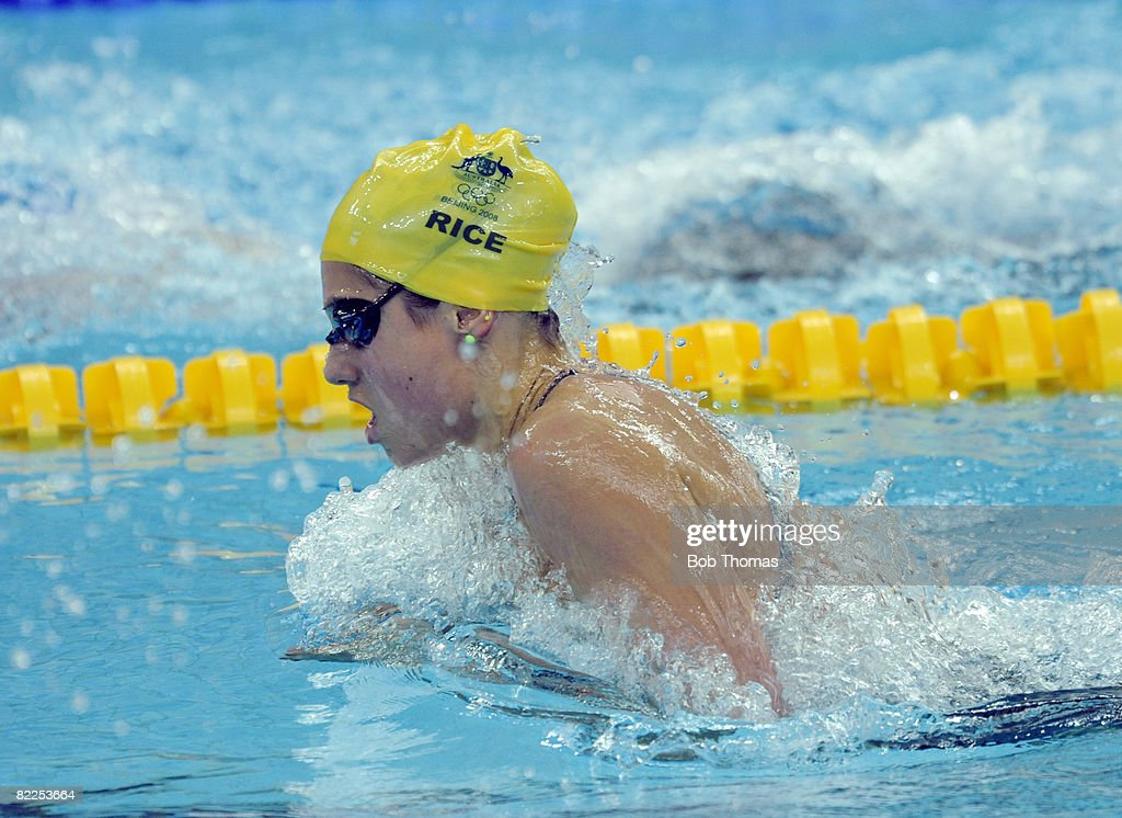 Stephanie Rice of Australia competes in the Womens 200m Individual Medley Heat 5 held at the National Aquatics Center on Day 3 of the Beijing 2008 Olympic Games on August 11, 2008 in Beijing, China.