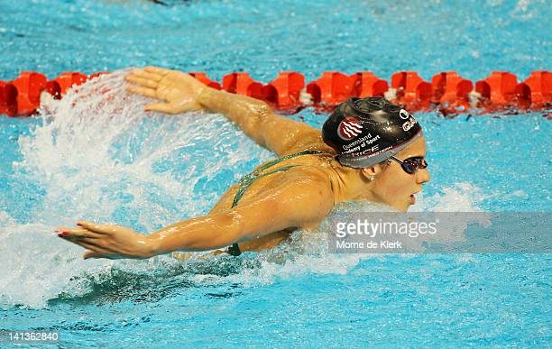 Stephanie Rice of Australia competes in the womens 400 metre individual medley final during day one of the Australian Olympic Swimming Trials at the...