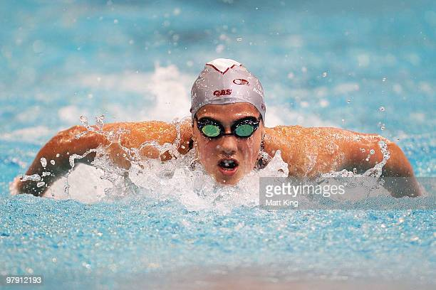 Stephanie Rice of QLD competes in the Womens's 400m Individual Medlay Final during day six of the 2010 Australian Swimming Championships at Sydney...
