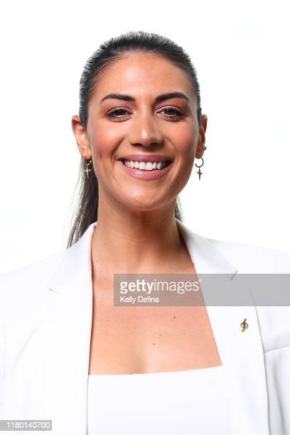 Stephanie Rice poses for a portrait during the Sport Australia Hall of Fame Induction Media Opportunity at Crown Entertainment Complex on October 10...