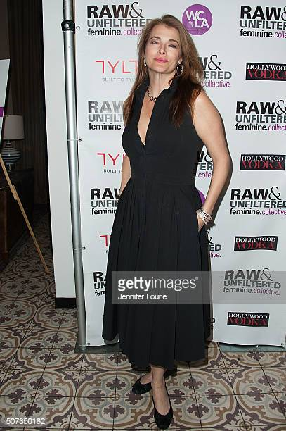 Stephanie Romanov arrives at the launch party for The Feminine Collective Raw and Unfiltered Vol 1 at Palihouse on January 28 2016 in West Hollywood...