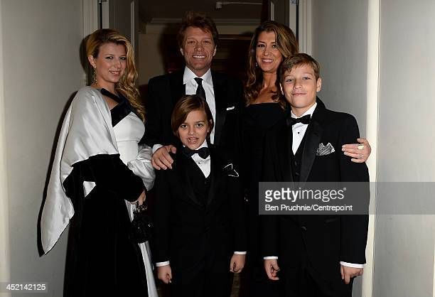 Stephanie Rose Bongiovi Jon Bon Jovi Romeo Bongiovi Dorothea Hurley and Jacob Bongiovi attend the Winter Whites Gala In Aid Of Centrepoint on...