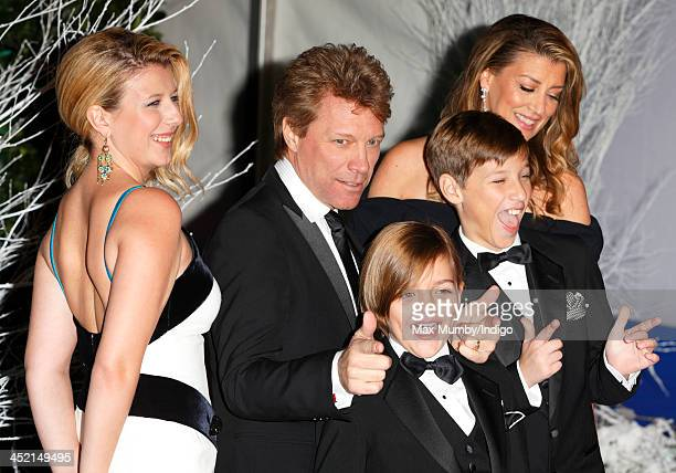Stephanie Rose Bongiovi Jon Bon Jovi Romeo Bongiovi Jacob Bongiovi and Dorothea Hurley attend the Centrepoint Winter Whites Gala at Kensington Palace...