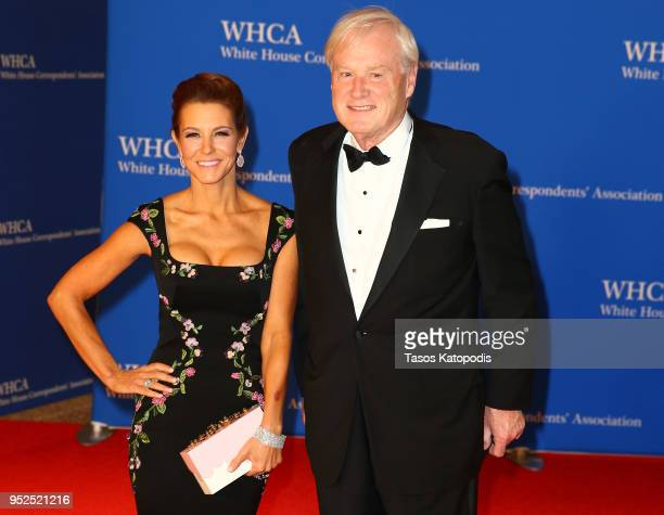 Stephanie Ruhle and Chris Matthews attend the 2018 White House Correspondents' Dinner at Washington Hilton on April 28 2018 in Washington DC