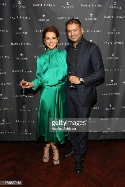 Stephanie Ruhle and Kamal Hotchandani attend as Haute Living and Louis XIII celebrate Tilman Fertitta cover and book release on September 18 2019 in...