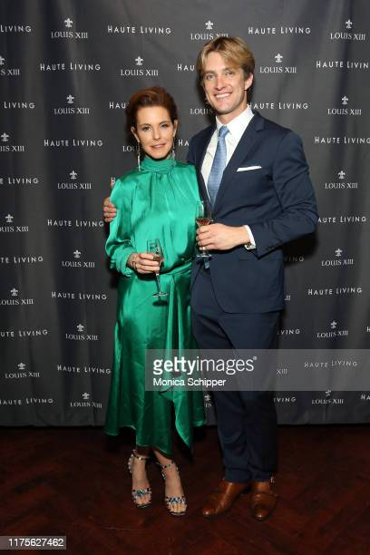 Stephanie Ruhle and Steele Cooper attend as Haute Living and Louis XIII celebrate Tilman Fertitta cover and book release on September 18 2019 in New...