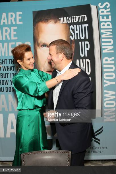 Stephanie Ruhle and Tilman Fertitta attend as Haute Living and Louis XIII celebrate Tilman Fertitta cover and book release on September 18 2019 in...