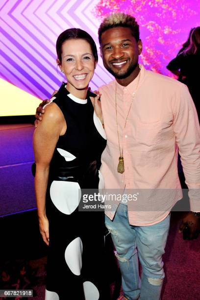 Stephanie Ruhle and Usher attend the 2017 PTTOW Summit Love Courage at Terranea Resort on April 12 2017 in Rancho Palos Verdes California