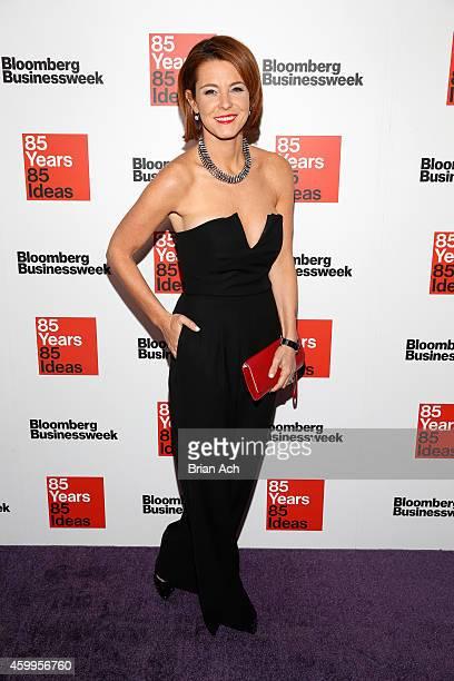 Stephanie Ruhle attends Bloomberg Businessweek's 85th anniversary celebration at the American Museum of Natural History on December 4 2014 in New...