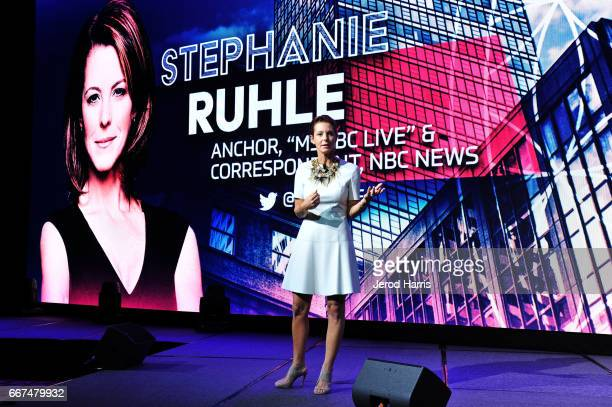 Stephanie Ruhle attends the 2017 PTTOW Summit Love Courage at Terranea Resort on April 11 2017 in Rancho Palos Verdes California
