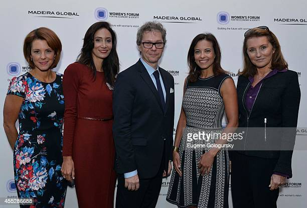 Stephanie Ruhle Christina M Alfonso JC Agid Dina Powell and Ccilia Attias attend the The Women's Forum For The Economy And Society And Madeira Global...
