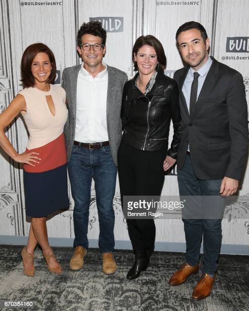 Stephanie Ruhle Jacob Soboroff Kasie Hunt and Ari Melber attend the Build Series to discuss Notes From The Newsroom 100 Days Of Trump at Build Studio...