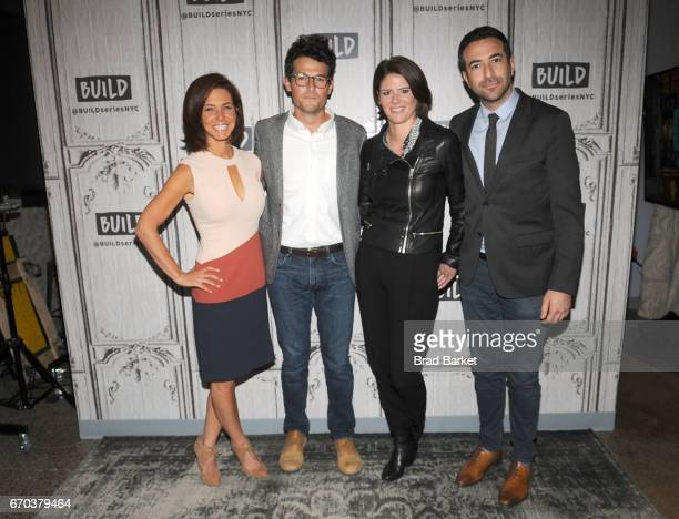Stephanie Ruhle Jacob Soboroff Kasie Hunt and Ari Melbera attend the Build Series Notes From The Newsroom 100 Days Of Trump special discussion at...