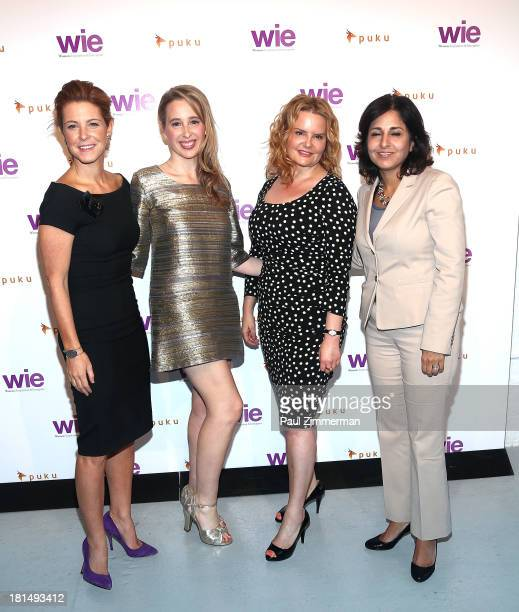 Stephanie Ruhle, Noreena Hertz, Beth Swofford and Neera Tanden attend the 4th Annual WIE Symposium at Center 548 on September 21, 2013 in New York...