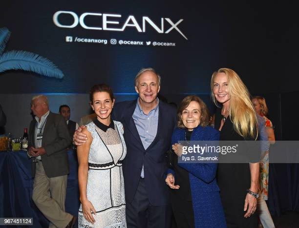 Stephanie Ruhle OceanX Founder Ray Dalio Conservationist and author Sylvia Earle and Shari Sant Plummer attend the Launch Of OceanX a bold new...