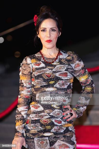 Stephanie Salas attends the Dolce Gabbana Alta Moda and Alta Sartoria collections fashion show at Soumaya Museum on April 18 2018 in Mexico City...