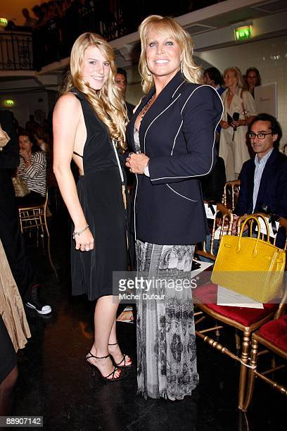 Stephanie Saperstein and Suzanne Saperstein attend the JeanPaul Gaultier fashion show during Paris HighFashion Week A/W 2009/10 at Pavillon Cambon...