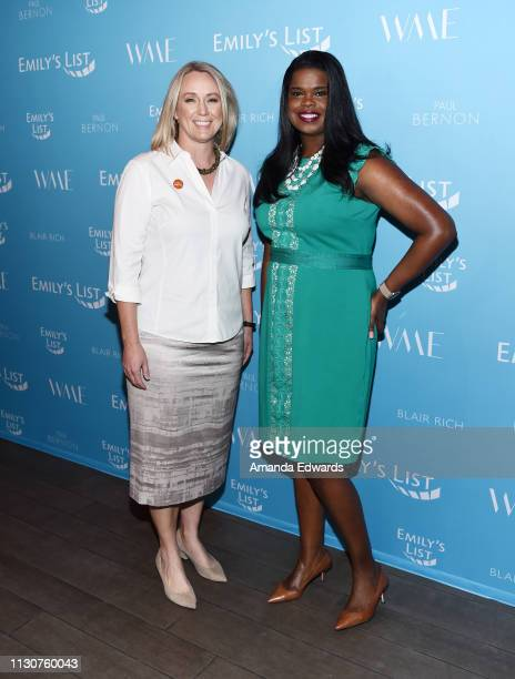 Stephanie Schriock and Kim Foxx arrive at the EMILY's List 2nd Annual PreOscars Event at the Four Seasons Los Angeles at Beverly Hills on February 19...