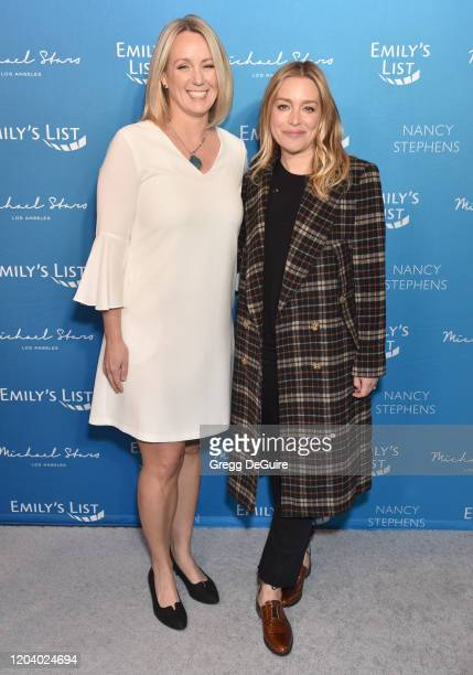 Stephanie Schriock and Piper Perabo attend EMILY's List 3rd Annual Pre-Oscars Event at Four Seasons Hotel Los Angeles at Beverly Hills on February...