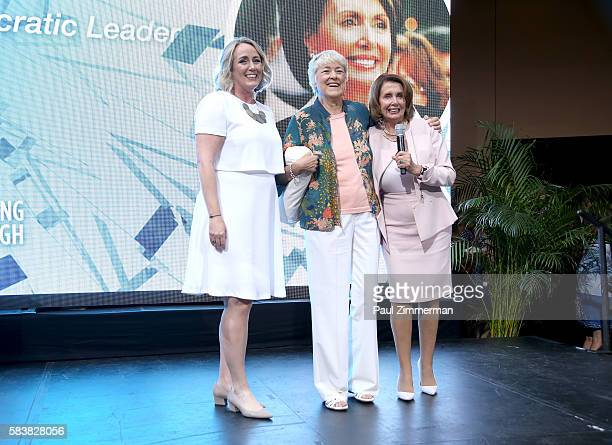Stephanie Schriock President of EMILY's List Founder of EMILY's List Ellen Malcolm and Minority Leader of the United States House of Representatives...