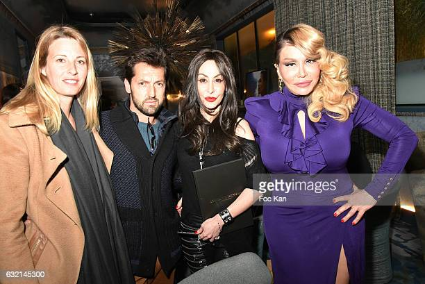 Stephanie Seguin her companion Frederic Diefenthal Stefanie Renoma and Allanah Starr attend the Stefanie Renoma Book Launch Party Hosted by Normal...