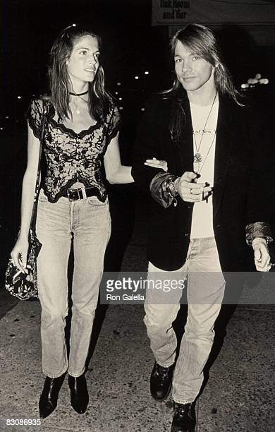Stephanie Seymour and Axl Rose of Guns N' Roses