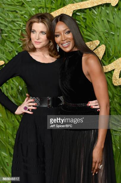 Stephanie Seymour and Naomi Campbell attend The Fashion Awards 2017 in partnership with Swarovski at Royal Albert Hall on December 4 2017 in London...