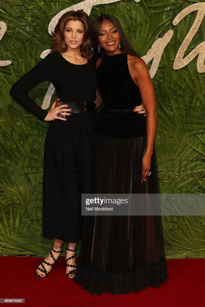 Stephanie Seymour and Naomi Campbell attends The Fashion Awards 2017 in partnership with Swarovski at Royal Albert Hall on December 4, 2017 in London, England.