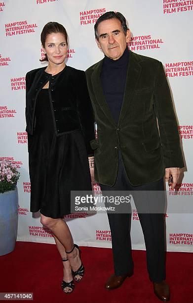 Stephanie Seymour and Peter Brant attend the Homesman premiere at Guild Hall on October 12 2014 in East Hampton New York