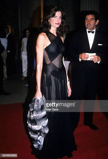 Stephanie Seymour and Peter M Brant at Metropolitan Museum of Art Costume Institute Gala, New York, April 23, 2001.