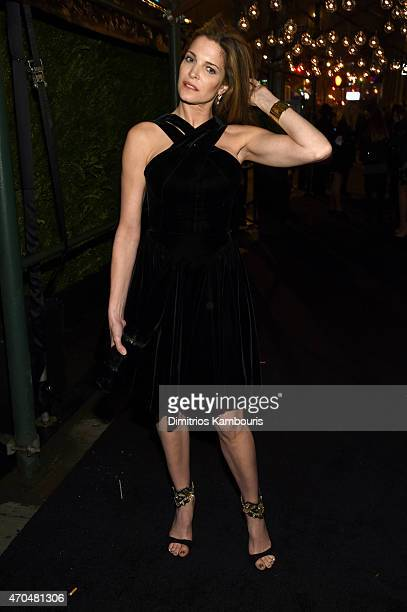 Stephanie Seymour attends the 2015 Tribeca Film Festival CHANEL Artists Dinner at Balthazer on April 20 2015 in New York City