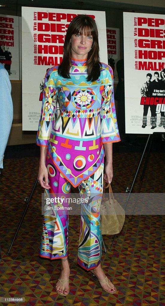 Stephanie Seymour during 'Knockaround Guys' Premiere - New York at AMC Empire 25 Theatre in New York City, New York, United States.