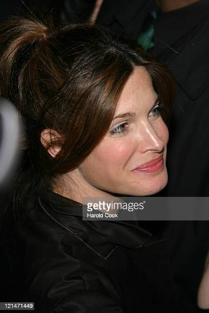 Stephanie Seymour during PIRELLI Presents the 2005 Calendar and the New P Zero Fashion Collection at Tony Shafrazi Gallery in New York City New York...
