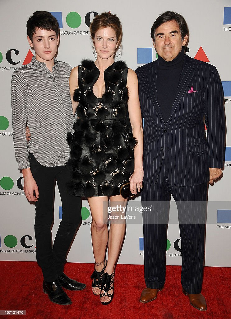 Stephanie Seymour (C) husband Peter M. Brant (R) and son Harry Brant (L) attend the 2013 MOCA Gala at MOCA Grand Avenue on April 20, 2013 in Los Angeles, California.