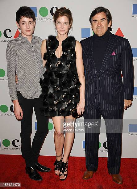 Stephanie Seymour husband Peter M Brant and son Harry Brant attend the 2013 MOCA Gala at MOCA Grand Avenue on April 20 2013 in Los Angeles California