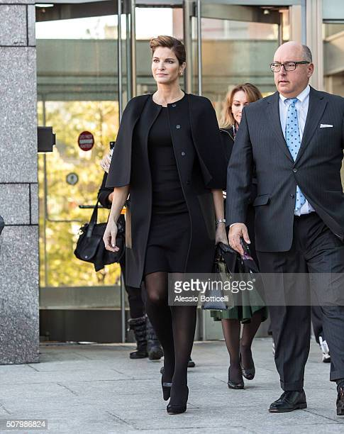 Stephanie Seymour is seen leaving Stamford Superior Court where she faced charges of Driving Under the Influence on February 2, 2016 in Stamford, CT.