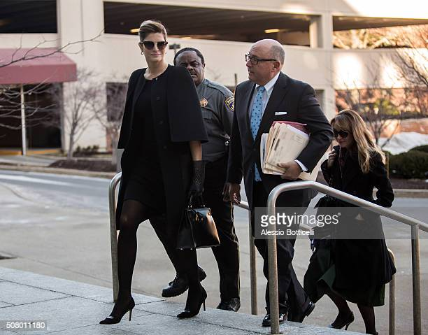 Stephanie Seymour is seen making an appearance at Stamford Superior Court where she faces charges of Driving Under the Influence on February 2 2016...