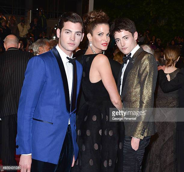 Stephanie Seymour Peter Brant Jr and Harry Brant attend 'The Homesman' Premiere at the 67th Annual Cannes Film Festival on May 18 2014 in Cannes...