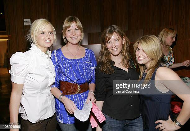 Stephanie Shaw Ellen Folk Randy Peck and Brook during Virginia Tech Charity Fundraising Event in New York City at Stone Rose in New York City New...