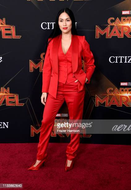 Steph Shep attends the Marvel Studios Captain Marvel premiere on March 04 2019 in Hollywood California