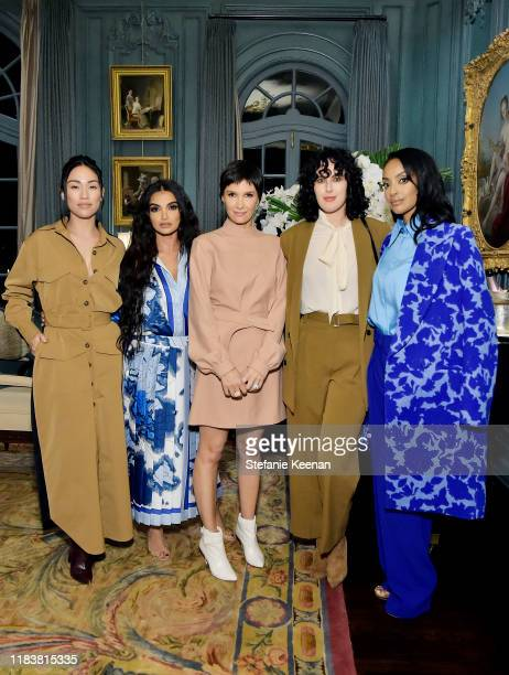 Stephanie Shepherd Fajer Fahad Cassandra Grey Rumer Willis and Azie Tesfai attend VIOLET GREY x Victoria Beckham Beauty LA Dinner hosted by Lynda...