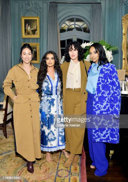 Stephanie Shepherd Fajer Fahad Rumer Willis and Azie Tesfai attend VIOLET GREY x Victoria Beckham Beauty LA Dinner hosted by Lynda Resnick and...