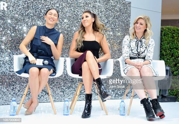 Stephanie Shepherd Hannah Lux Davis and Ilaria Urbinati speak onstage at Beverly Center's Grand Reveal Weekend Everyone Welcome with Create Cultivate...
