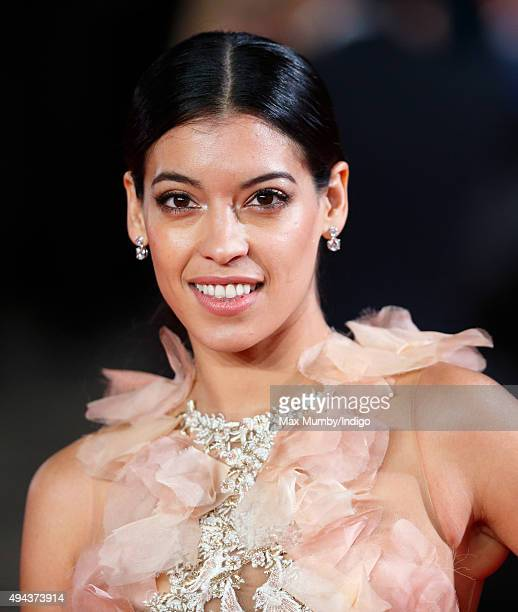Stephanie Sigman attends the Royal Film Performance of 'Spectre' at The Royal Albert Hall on October 26 2015 in London England